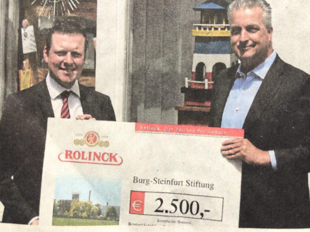 Krombacher Spende Burg-Steinfurt Stiftung